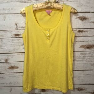 Lilly Pulitzer | Yellow Cotton Tank Top